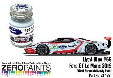 ZEROPAINTS ZP-1591 Ford GT Le Mans #69 Light Blue Paint 30ml