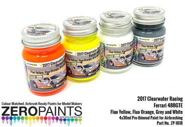 ZEROPAINTS ZP-1618 Clearwater Racing 2017 Ferrari 488GTE Paint 4x30ml