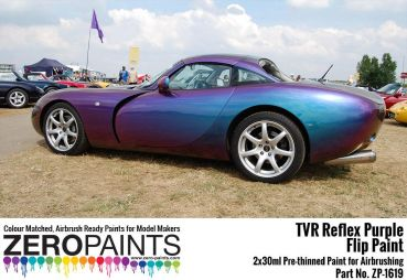 ZEROPAINTS ZP-1619 TVR Reflex Purple Flip Paint 2x30ml (Limited Edition Colour)