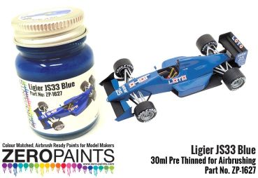 ZEROPAINTS ZP-1627 Ligier J33 Blue Paint 30ml