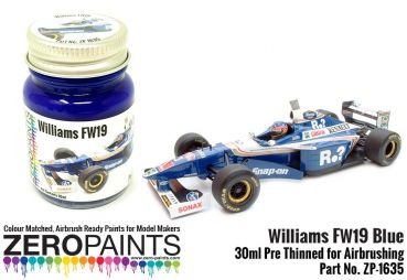 ZEROPAINTS ZP-1635 Williams FW19 Blue Paint 30ml