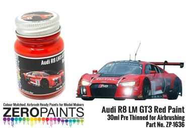 ZEROPAINTS ZP-1636 Audi R8 LM GT3 Red Paint 30ml