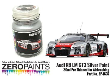 ZEROPAINTS ZP-1637 Audi R8 LM GT3 Silver Paint 30ml