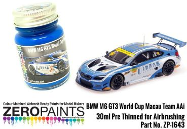ZEROPAINTS ZP-1645 BMW M6 GT3 World Cup Macau Team Aai Blue Paint 30ml
