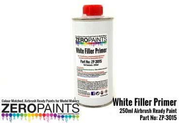 ZEROPAINTS ZP-3015 White Airbrushing Primer/Micro Filler 250 ml