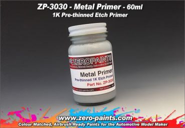 ZEROPAINTS ZP-3030 Metal Primer (Grundierung für Metalle) 60ml Airbrush Ready