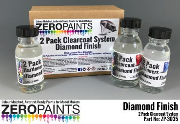 ZEROPAINTS ZP-3035 Diamond Finish - 2 Pack GLOSS Clearcoat System (2K Urethane) 220ml