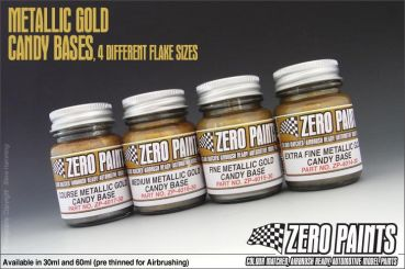 ZEROPAINTS ZP-4014 Extra Fine Metallic GOLD Groundcoat for Candy Paints 60ml