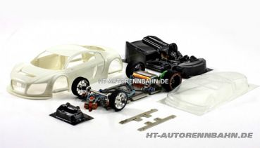 Scaleauto, 1:24 R8 LMS Full Racing RC Competition White Kit m.GT3 Fahrwerk, 7044RC
