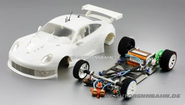 Scaleauto, 1:24 Porsche 991 RSR Full Racing RC Competition White Kit m.GT3 Fahrwerk, 7047RC