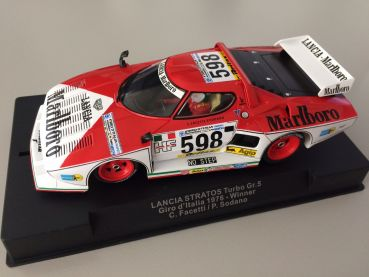 SIDEWAYS by RACER Lancia Stratos Turbo Gruppe5, Giro d´Italia 1976 Winner #598, Marlboro Design