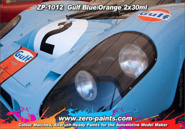 ZEROPAINTS ZP-1012 Gulf Blue and Orange Paints 2x30ml