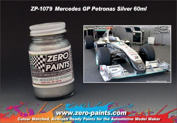 ZEROPAINTS ZP-1079 Mercedes GP Petronas Silver Paint 60ml