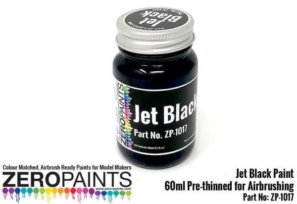 ZEROPAINTS ZP-1017 Jet Bleck (Solid) Paint 60ml