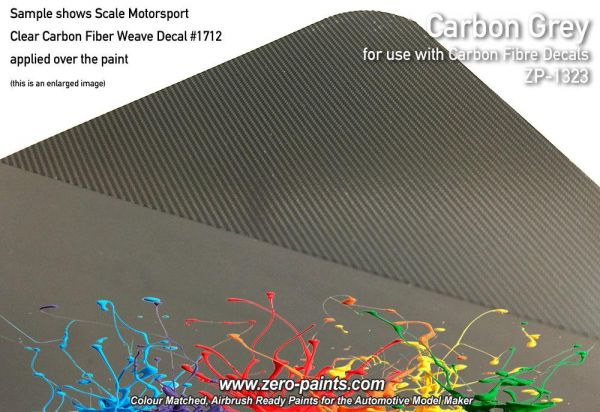 ZEROPAINTS ZP-1323 Carbon Grey (Carbon Fibre Grey) Paint 60ml