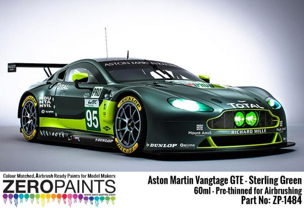 ZEROPAINTS ZP-1484 Aston Martin Vantage GTE - Sterling Green (Grün) Paint 60ml