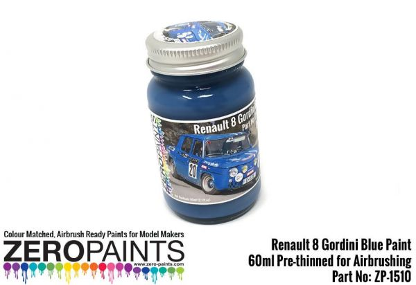 ZEROPAINTS ZP-1510 Renault 8 Gordini Blue (Bleu Gordini) Paint 60ml