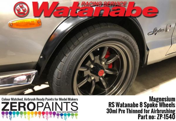 ZEROPAINTS ZP-1540 Magnesium Paint for RS Watanabe 8 Spoke Wheels 30ml