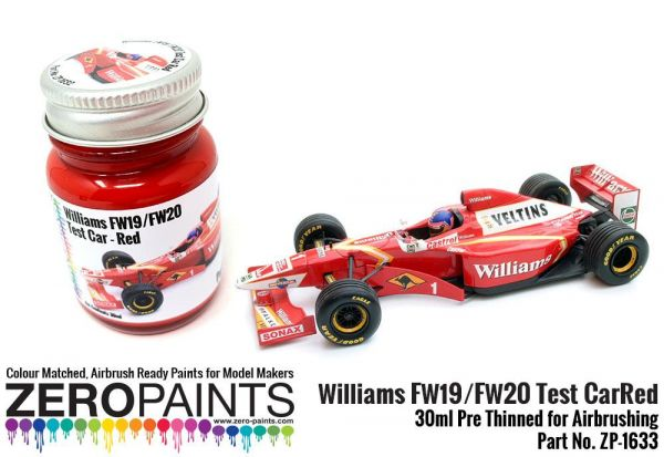 ZEROPAINTS ZP-1633 Williams FW19/FW20 Test Car - Red Paint 30ml