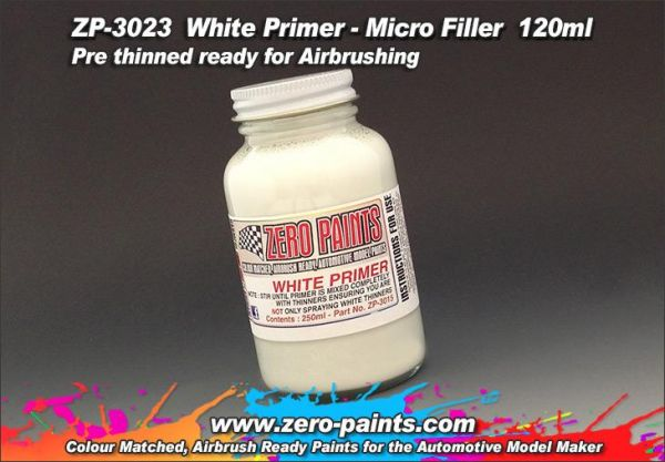 ZEROPAINTS ZP-3023 White Airbrushing Primer/Micro Filler 120ml