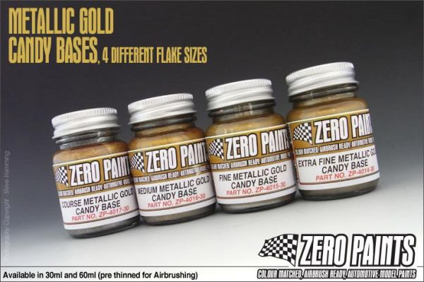 ZEROPAINTS ZP-4015 Fine Metallic GOLD Groundcoat for Candy Paints 60ml