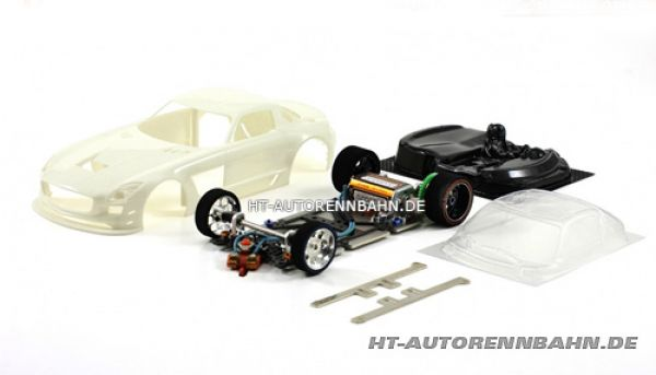 Scaleauto, 1:24 Mercedes SLS Full Racing RC Competition White Kit m.GT3 Fahrwerk, 7020RC