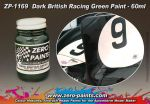 ZEROPAINTS ZP-1169 Dark British Racing Green Paint, 60ml