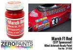 ZEROPAINTS ZP-1136 March F1 Red (STP Sponsored) Paint 60ml