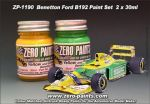 ZEROPAINTS ZP-1190 Paint Set 2x30ml ähnlich Benetton Ford B192