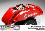ZEROPAINTS ZP-1434 Brake Caliper Red Paint ähnlich Brembo Bremssattel Rot, 30ml