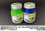 ZEROPAINTS ZP-1490 BMW M3 E30 - DTM 1988 Team Alpina - Green / Blue Paint Set 2x30ml
