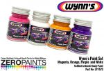ZEROPAINTS ZP-1573 Sponsor Paint Set ähnlich Wynn's Sponsorfarben (Magenta, Purple, Orange and White) 4x30ml