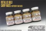 ZEROPAINTS ZP-4017 Course Metallic GOLD Groundcoat for Candy Paints 60ml
