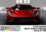 ZEROPAINTS ZP-1545 Ford GT Liquid Red Paint 60ml